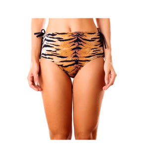 Hot pant dupla face est. tiger e preto frente 300x300 - Hot pant dupla face est tiger e preto